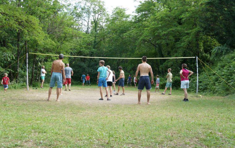 terrain volley balla actinidias