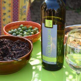 Olives et vin
