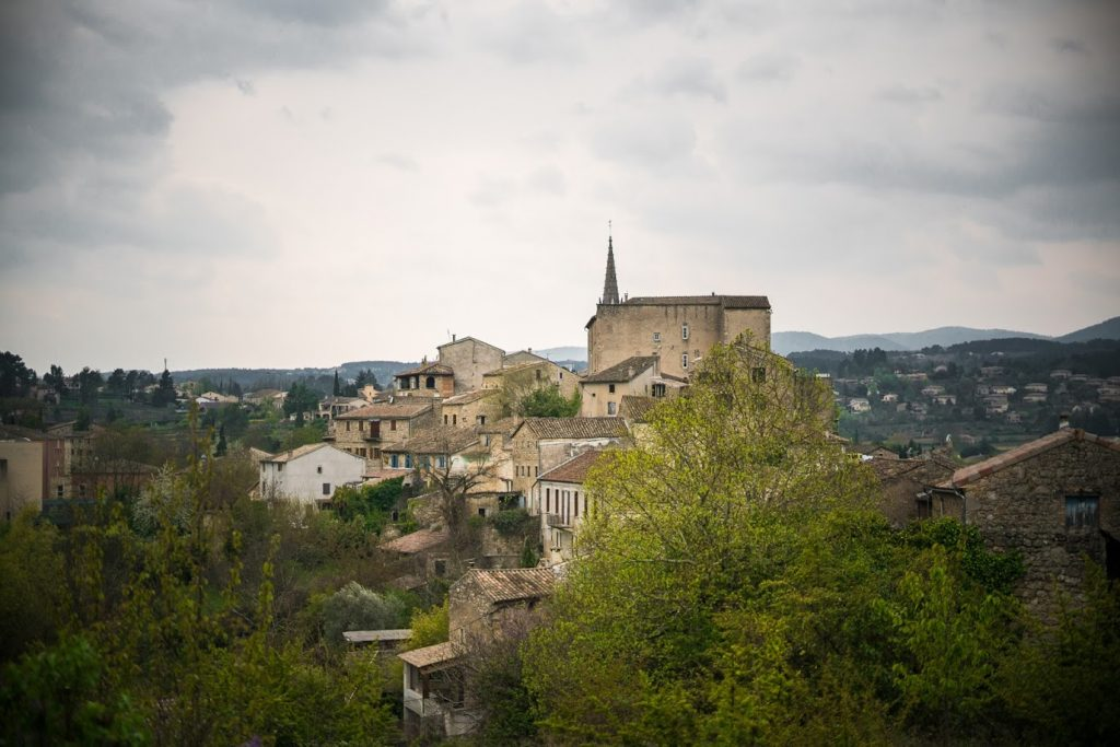 Joyeuse Sud Ardèche vue du chateau