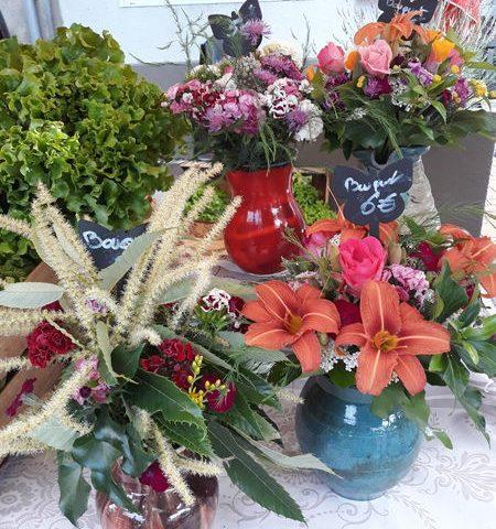 bouquet fleurs le jardin de vero