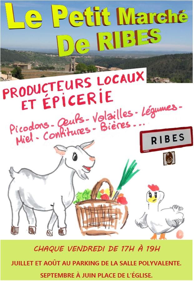 Le petit marché de Ribes